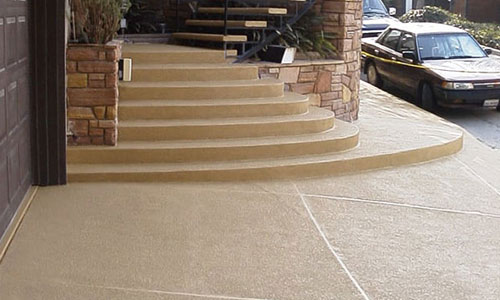 Decorative Outdoor Concrete Stairs